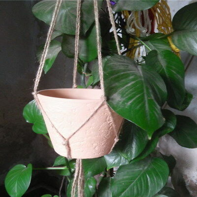 Macrame Plant Hanger Rope String Flower Pot Durable Garden Holder Hanging Basket