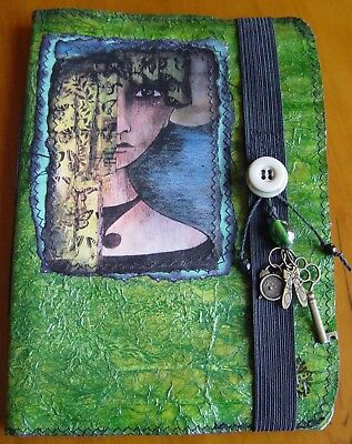 HANDCRAFTED BLANK JOURNAL Wicca Witch Pagan Goth BOOK OF SHADOWS DEBORAH ISABELL