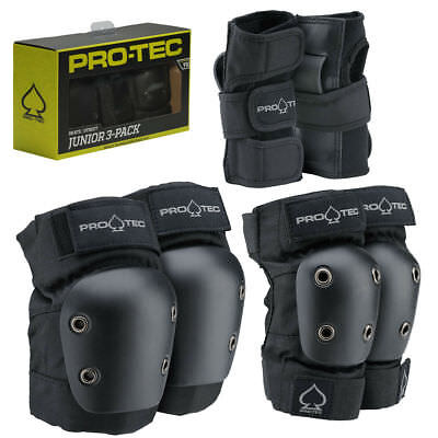 Pro-Tec Pads Street Elbow & Knee Set JUNIOR SMALL Protec Safety Skate Gear
