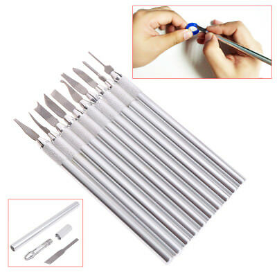 1 Set Wax Carving Knife Jewelry Sculpture Blade Laboratory Tools Stainless Steel