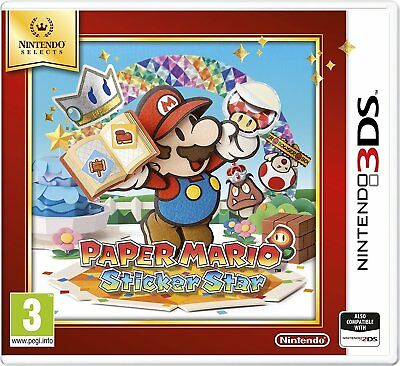 Nintendo 3DS Game Paper Mario: Sticker Star 3D 2DS Compatible NEW