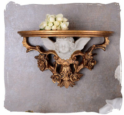 Baroque Console Storage Angel Cupid Wall Console Wall Shelf Baroque Console