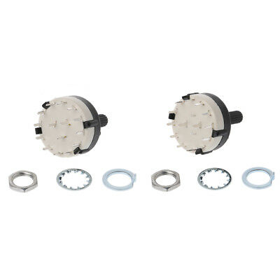 2 Pole 6 Way /3 Pole 4 Way Durable Fashion Rotary Switch Mount Panel PCB Wirie