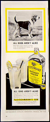 Vintage 1941 Fleischmann's Distilled Dry Gin Magazine Ad All Are Not Alike