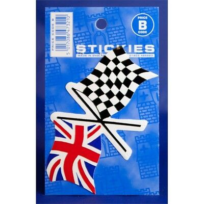 Union Jack & Chequered Crossed Flag Sticker - Flags Castle Promotions Outdoor