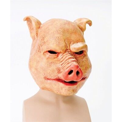 Horror Schwein Overhead Tier Maske - Mask Pig Fancy Dress Halloween Latex