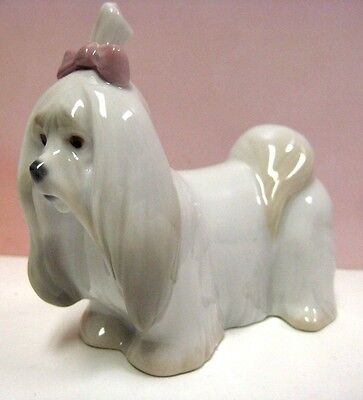 Maltese - Puppy Dog - Animal Figurine By Lladro Porcelain  8368