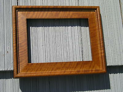Beautiful Art Crafts Style Curly~Maple Cherry Picture Frame Lap Joints 5 x 7