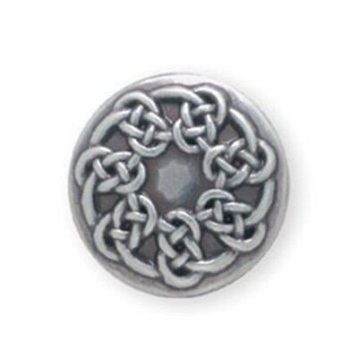 """1"""" Silver Plated Pictish Knot Concho - 1"""" Leathercraft Design Accent Belt Tandy"""
