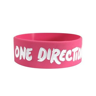 One Direction Kiss You Wristband - Gummy Pink Unisex Accessories New Rubber