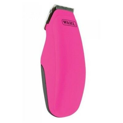 Wahl Pocket Pro Cordless Hair Trimmer Clipper, Pink - Battery Operated Black
