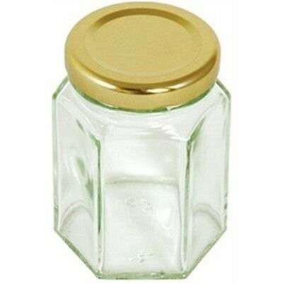 8oz Hexagonal Jar With Gold Screw Top Lid - Tala Preserving 228g Glass New