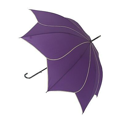Blooming Brollies Swirl Auto Stick Umbrella - Purple