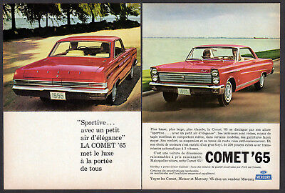 1965 COMET Caliente Vintage Original 2-pages small Print AD Red car photo Canada