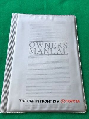 Toyota Owners Service Manual Folder / Wallet,To Hold Your Service Booklet In.