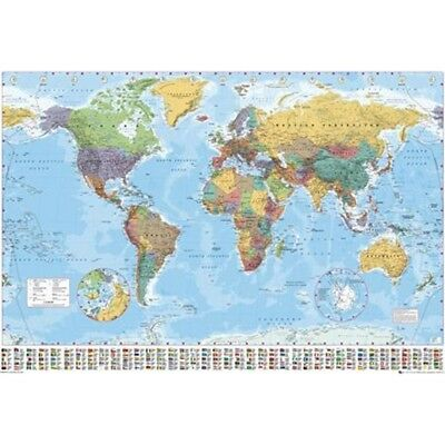 World map atlas maxi poster gb eye 2015 multicolour 61 915cm world map atlas maxi poster gb eye 2015 multicolour 61 915cm gumiabroncs Gallery