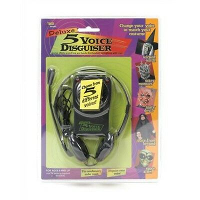 Bristol Novelty Black Voice Changer & Headset Microphone General Jokes Men's -