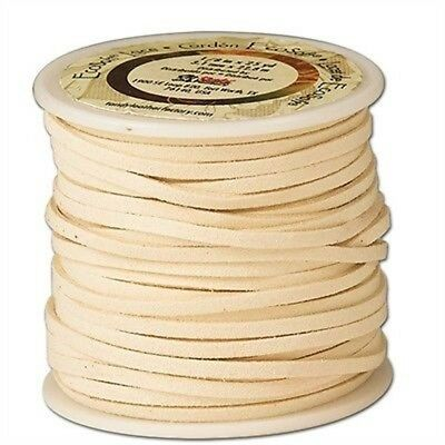 "The Leather Factory Ecosoft Lace Spool, Cream, 1/8"" x 25yd - 18 8x25 Yds Cream"