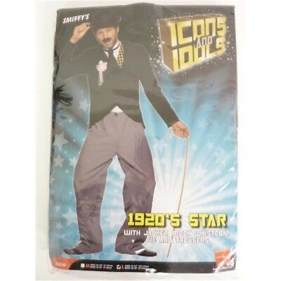 1920s Charlie Chaplin Style Star Mens Fancy Dress Stag Party Costume Outfit