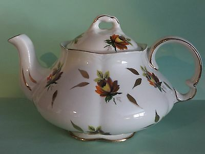 Ellgreave tea for 1 teapot Woods Son yellow floral Ironstone Ralph 1750 Moses