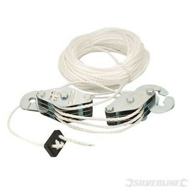 180kg Cable Pulley Set - Silverline 633957 Lifting Cargo