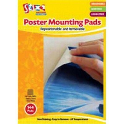 Poster Mounting Pads 22mm x 22mm x 1mm- 20 Pads – 1 Pack - Repositionable
