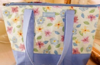 Longaberger Fabric Tote - FLORAL BLOOMS - Spring & Summer - Pretty - NEW!!