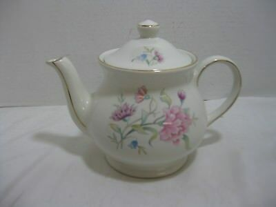 Sadler Teapot Pink and Purple Flowers Gold Trim England