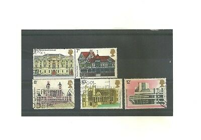 GB 1975 set 5 used stamps  European Architectural Heritage Year