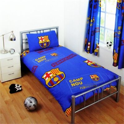 Barcelona Official Single Duvet Set - Multi-colour - Cover Fc Football Bedding
