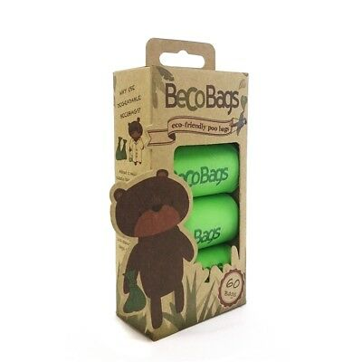 Biodegradable Dog Poo Bags - Beco Friendly 60 Poop Thick Degradable Extra Puppy