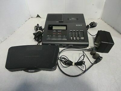 Sony Microcassette Dictator/Transcriber BM-850 with Foot Control Unit FS-85