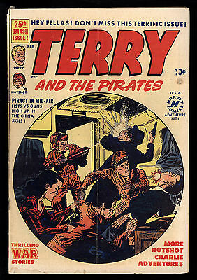 Terry And The Pirates (1947) #25 1st print Harvey Cold War Milton Caniff Art VG