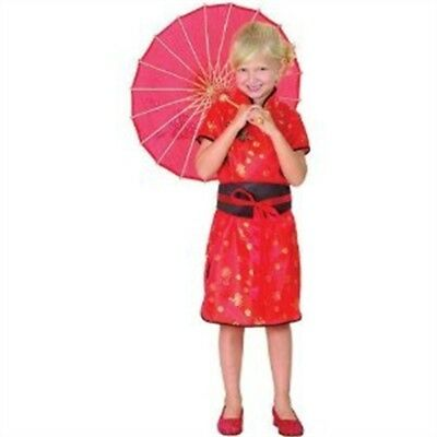 Small Red Girls Chinese Girl Costume - Dress Fancy Book Oriental Week Outfit