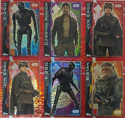 ROGUE ONE  Trading Card HOLOGRAPHIC   SET OF 32  UK Edition  2016  Star Wars