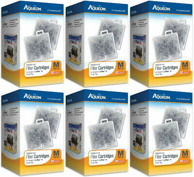 Aqueon Replacement Filter Cartridges, Medium, 72ct (6 x 12ct)
