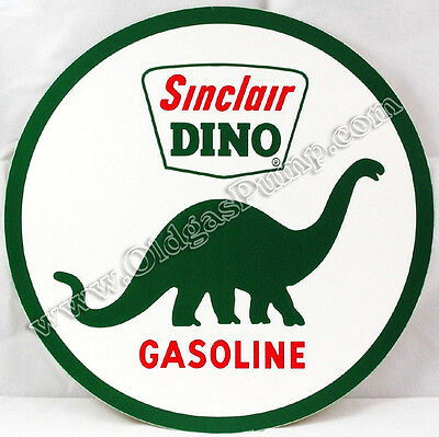 "Sinclair Dino Gasoline 6"" Vinyl Gas & Oil Pump Decal Dc-121B"