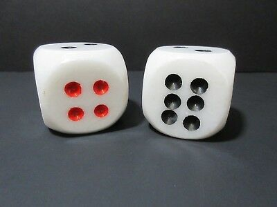 SET OF VINTAGE DICE MARBLE  PAPERWEIGHTS-LOT OF 2 MATCHING  Marble DICE