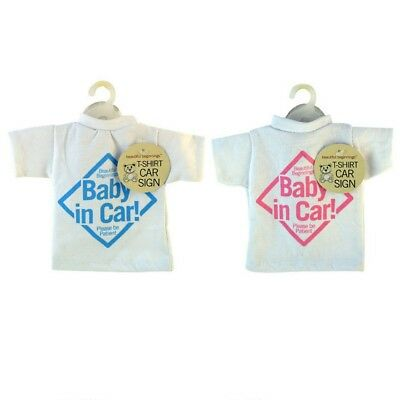 New T-shirt Style Baby On Board Car Sign Children Kids Toddlers Window Easy -