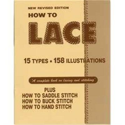 How To Leather Lace & Stitch Book - Lacing Braiding Guide Leathercraft Tandy