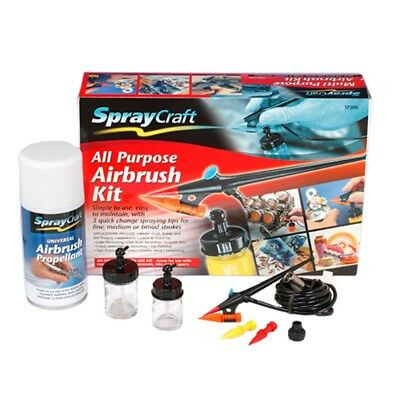 Multi-tip All-purpose Airbrush Kit - Spraycraft All Purpose Ssp20k