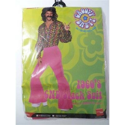 60s Psychedelic CND Suit Costume Hippy Hippie Adult Mens Fancy Dress Outfit