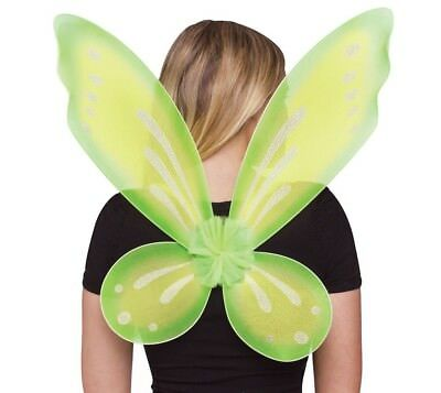 Adult Green Shimmer Fairy Wings Tinkerbell Halloween Costume Party Accessory Tin