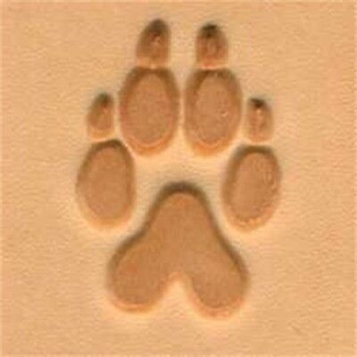Wolftrack 2d Leather Stamping Tool - Craf 3d Stamp Wolf Trackpaw Print 8828600