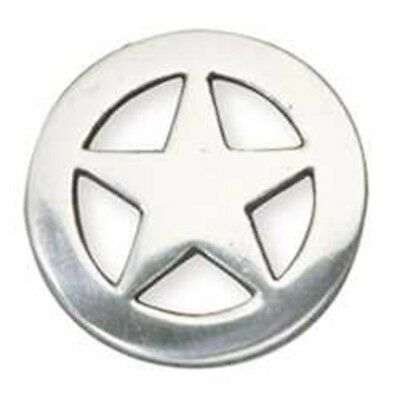 Ranger Star Concho 3/4in - 34in Silver Plate Leathercraft Decorative Accent
