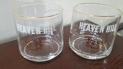 2 Vintage Heaven Hill Bourbon Lo Ball / LoBall Glasses Bardstown  KY
