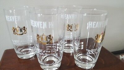 4 Vintage Heaven Hill Bourbon  Glasses Bardstown