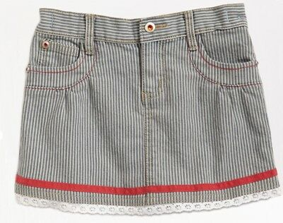 NWT PUMPKIN PATCH Stripe Denim Skirt PICNIC IN PROVENCE Adjustable Waist 2T