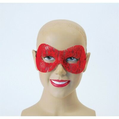 Rote Spitze Domino Maskerade Augenmaske - Lace Mask Prom Masquerade New Year