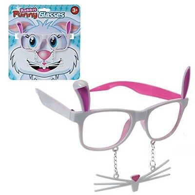 Easter Arts & Craft Bonnet Decorations Egg Hunt - Bunny Glasses With Whiskers -